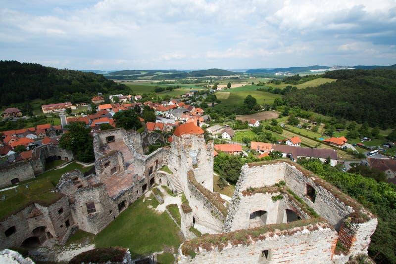 Aussicht vom Schloss Rabi lizenzfreie stockfotografie