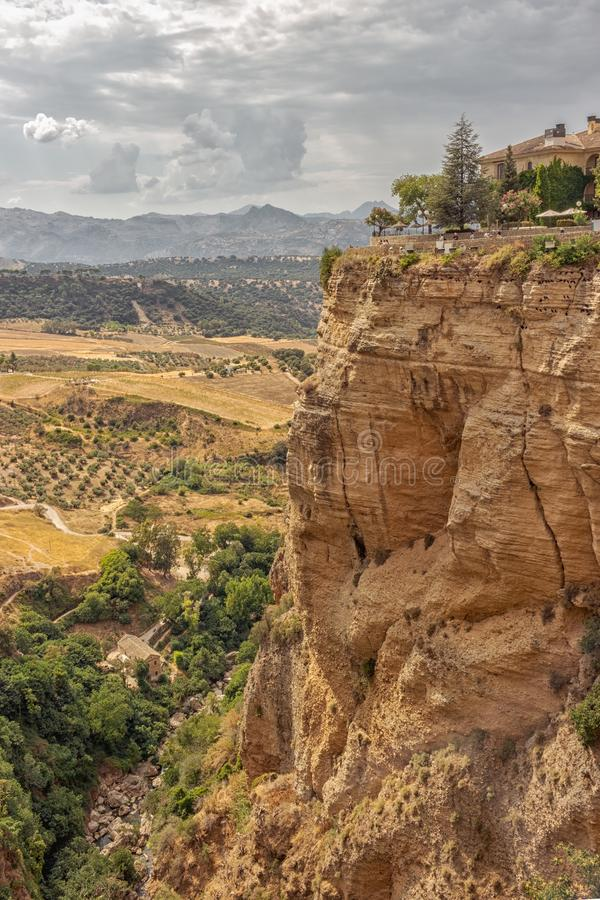 Aussicht vom Tajo de Ronda stockfoto