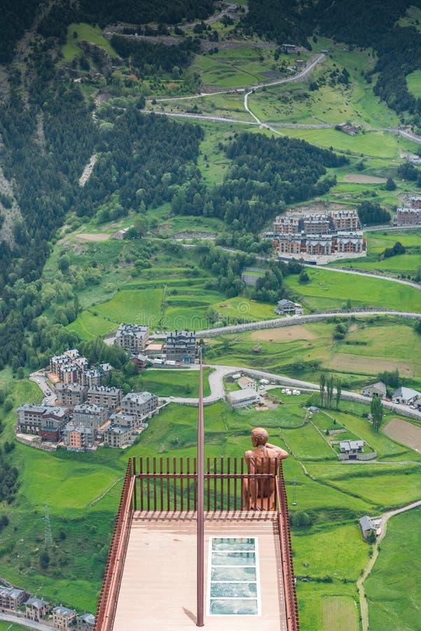 Aussichtsplattform Roc Del Quer, Andorra lizenzfreie stockbilder