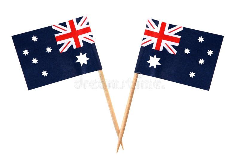 aussie σημαίες στοκ φωτογραφία με δικαίωμα ελεύθερης χρήσης