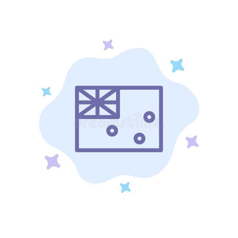 Aussie, Australia, país, icono azul de la bandera en fondo abstracto de la nube ilustración del vector