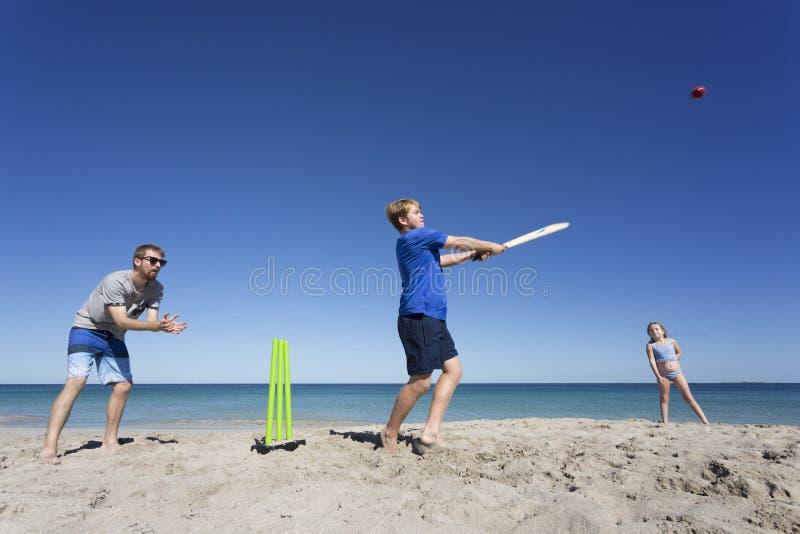 Aussie Beach Batsman imagenes de archivo