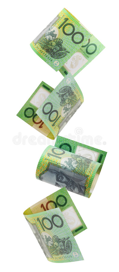 Download Aussie Hundreds Falling stock image. Image of currency - 7172813