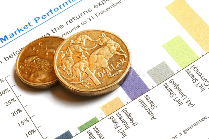 Download Aussie Money On Finance Graph Royalty Free Stock Image - Image: 2118446