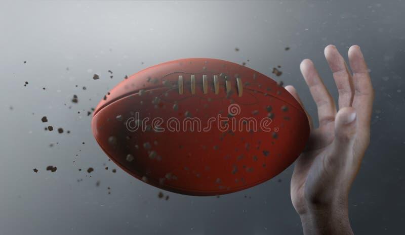 Aussie Rules Ball In Flight vector illustratie