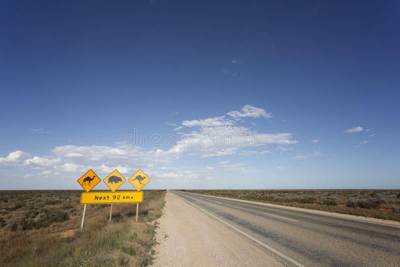 Aussie Warning Signs stockfotos