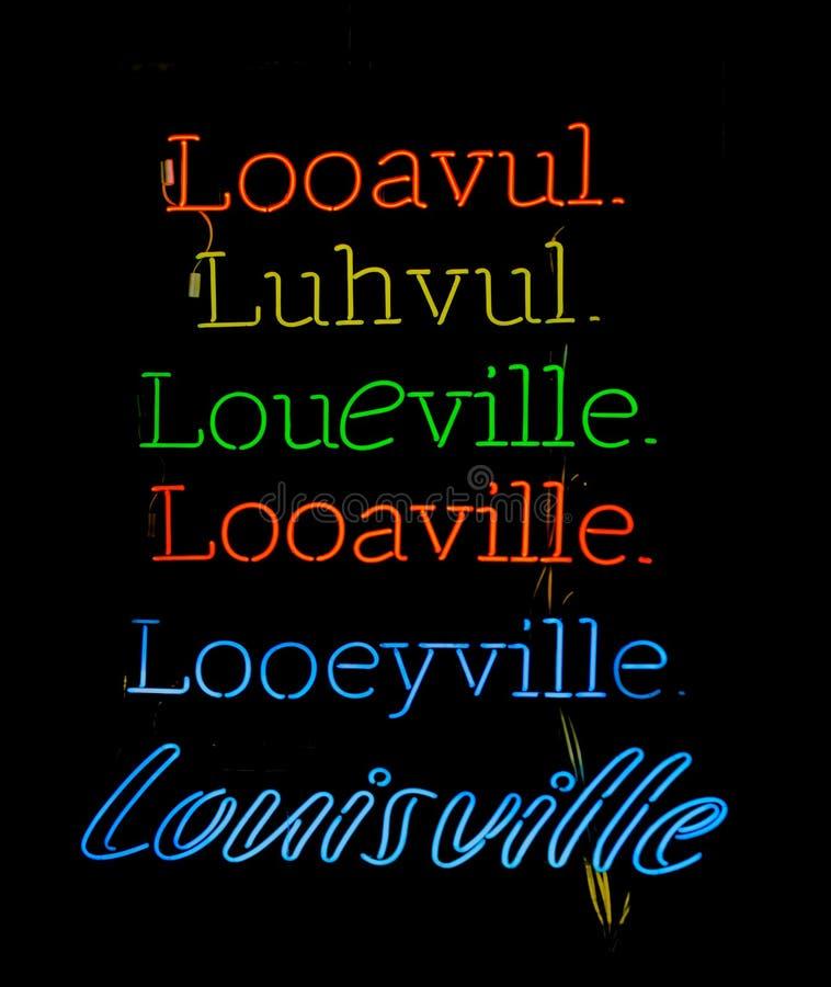 Aussprachen Louisvilles Kentucky stockfotografie