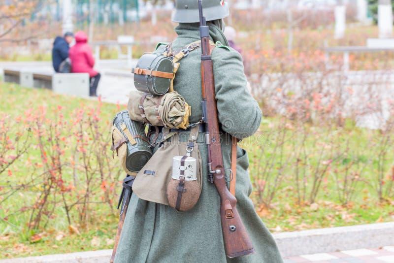 Ausstattung eines deutschen Wehrmacht-Soldaten während WWII lizenzfreie stockfotos