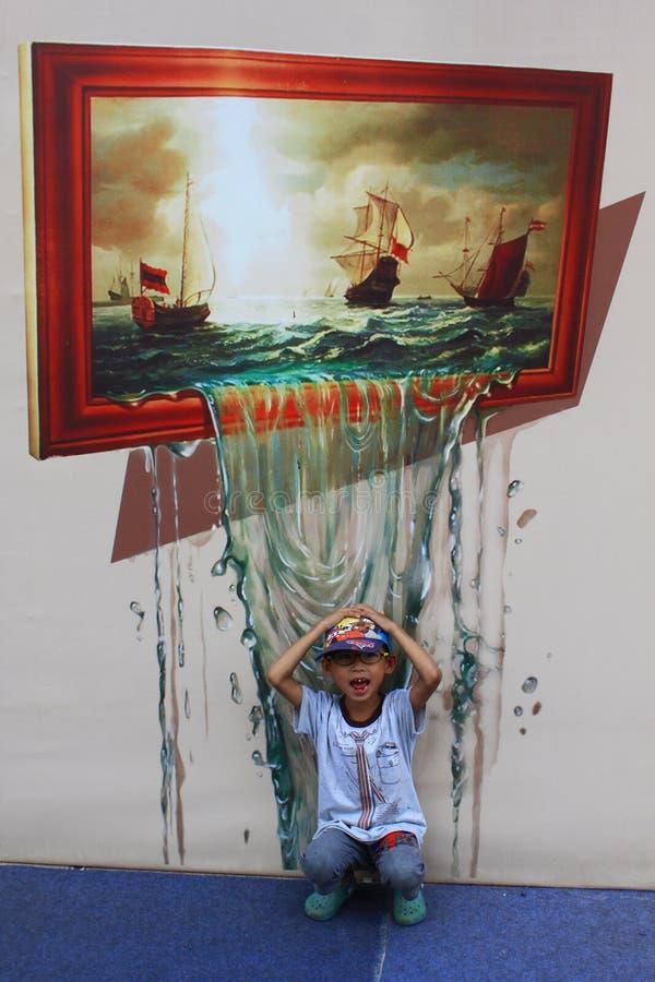 Ausstellung des Bildes 3D stockfoto
