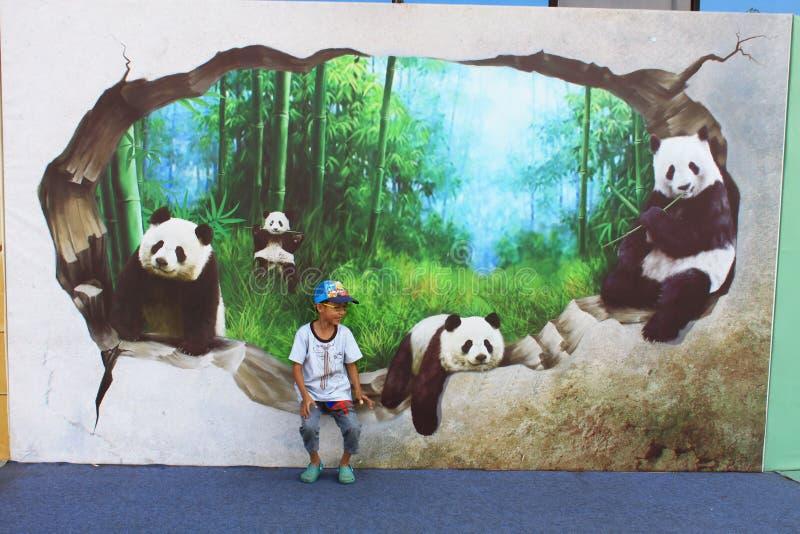 Ausstellung des Bildes 3D stockbild