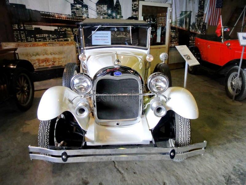 Ausstellung von Retro- Autos Auto 'Ford vorbildliches A ', Jahr von Fertigung 1927, Kapazität 40 HP, USA, Detroit lizenzfreie stockfotos