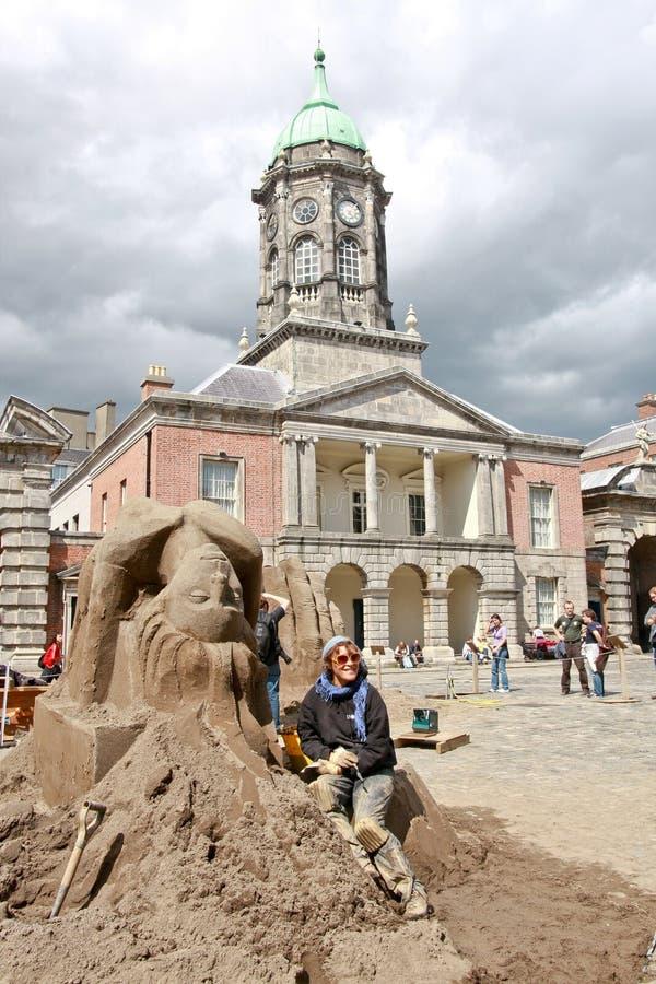 Ausstellung von Sandskulpturen, DUblin Castle, Irland lizenzfreies stockfoto
