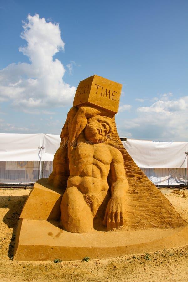 Ausstellung von Sandzahlen lizenzfreie stockfotografie