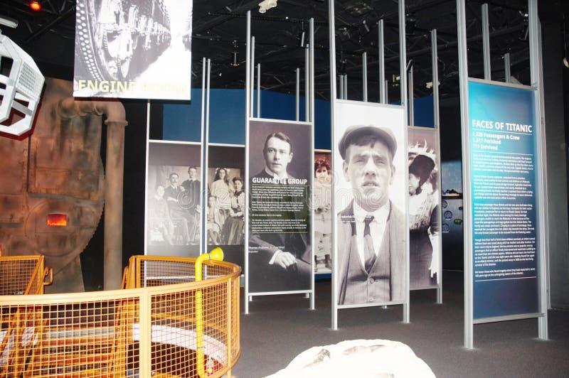 Ausstellung zum Gedenken an das titanische stockbilder
