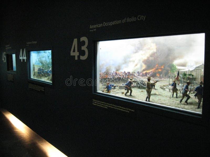 Ausstellungen über die Geschichte der Philippinen in Ayala-Museum, Makati stockbilder