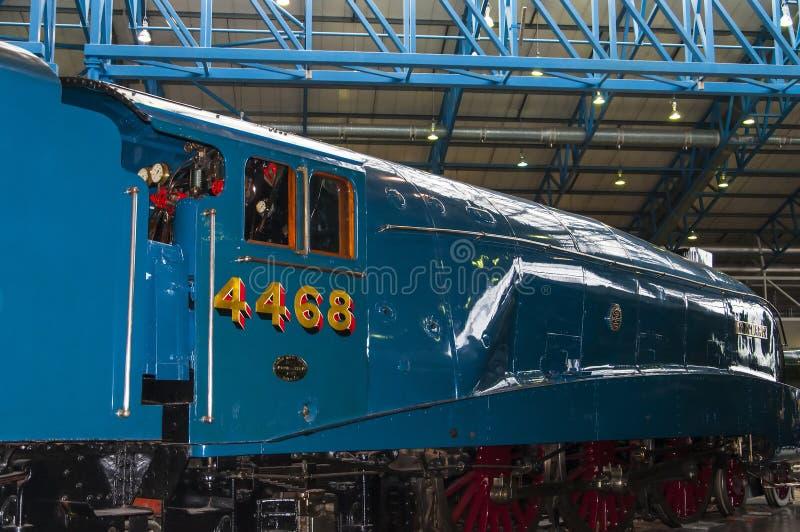 Ausstellungen im nationalen Bahnmuseum in York, Yorkshire England lizenzfreie stockbilder