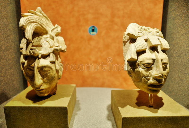 Ausstellungen im Nationalmuseum von Anthropologie, Mexiko City stockfoto