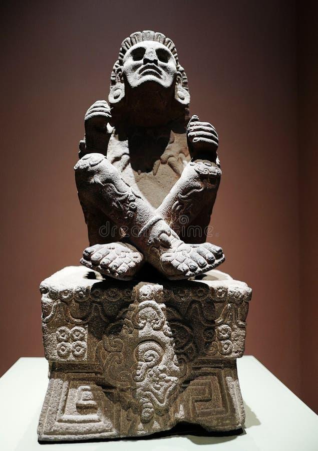 Ausstellungen im Nationalmuseum von Anthropologie, Mexiko City lizenzfreie stockfotografie