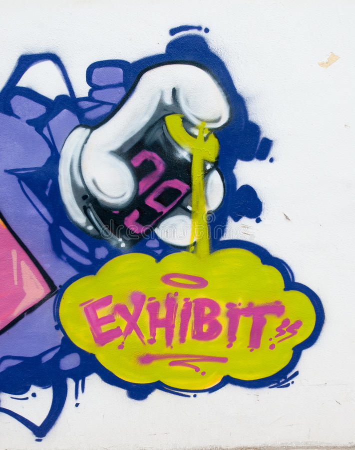 Ausstellungs-Graffiti stockfotos