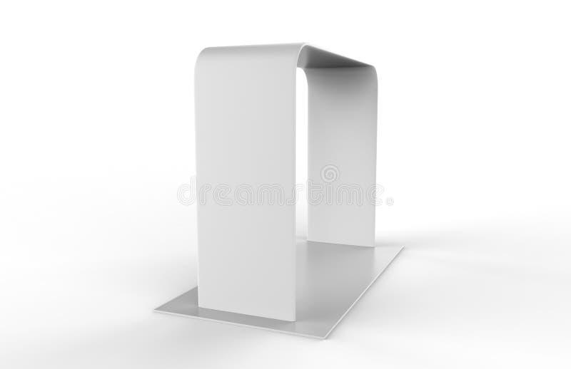 Ausstellungs-Stand-Spannungs-Gewebe-Werbungs-Fahnen-Quadrat-Bogen-tragbarer Ausstellungsstand 3d übertragen Abbildung stock abbildung