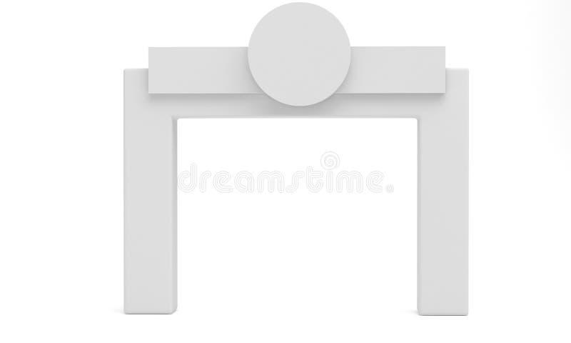Ausstellungs-Stand-Spannungs-Werbungs-Fahnen-quadratischer Bogen-tragbarer Ausstellungsstand 3d ?bertragen stock abbildung