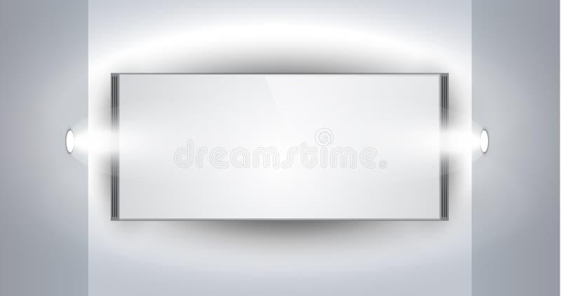 Ausstellungsraum-Panel für Produkt mit LED-Scheinwerfern lizenzfreie abbildung
