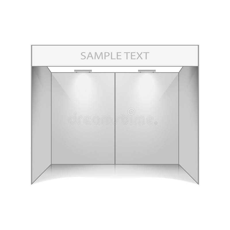 Ausstellungsstand, Ausstellungsraum tempalte lizenzfreie abbildung