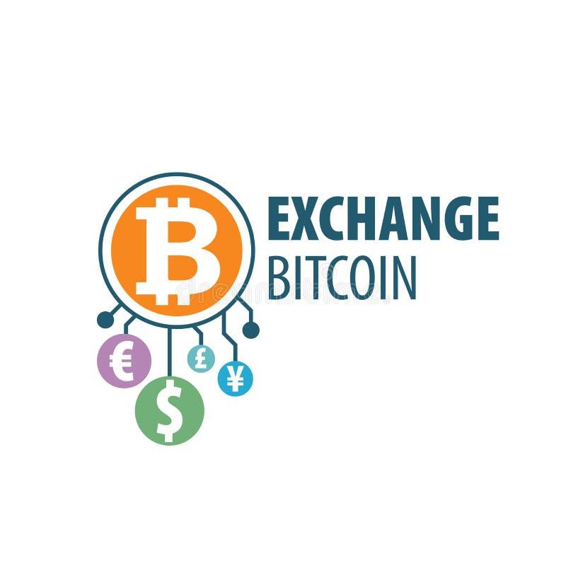 Austausch bitcoin für Geld stock abbildung