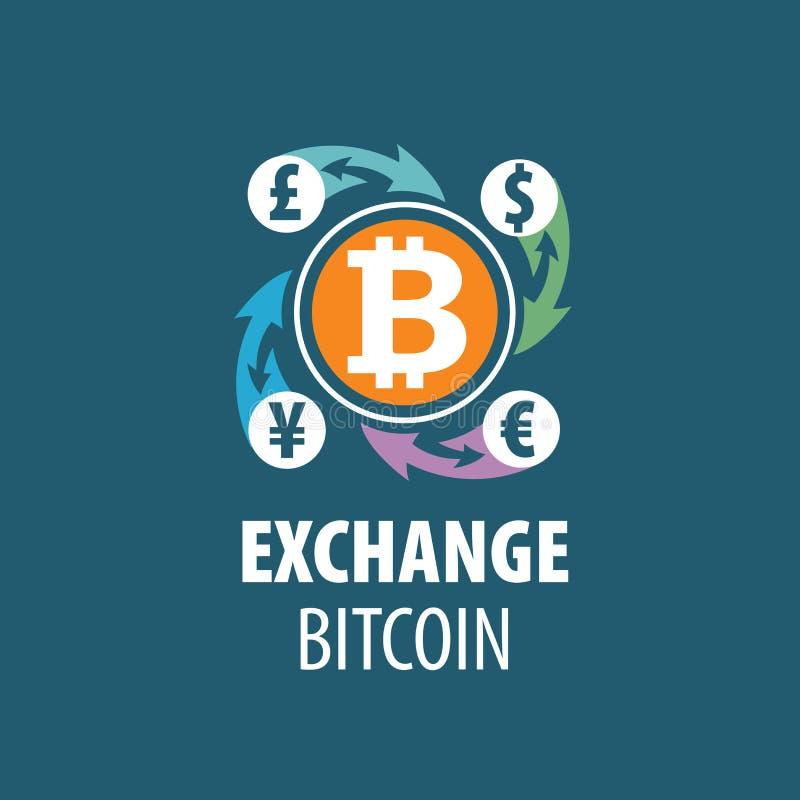 Austausch bitcoin für Geld vektor abbildung