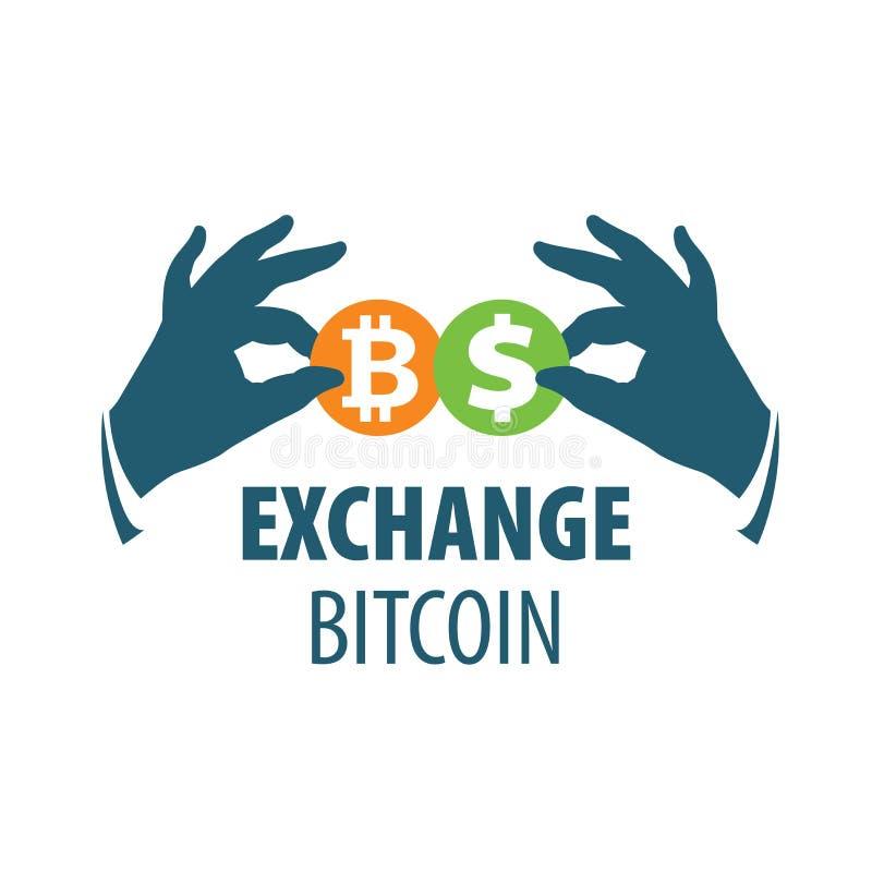 Austausch bitcoin für Geld lizenzfreie abbildung