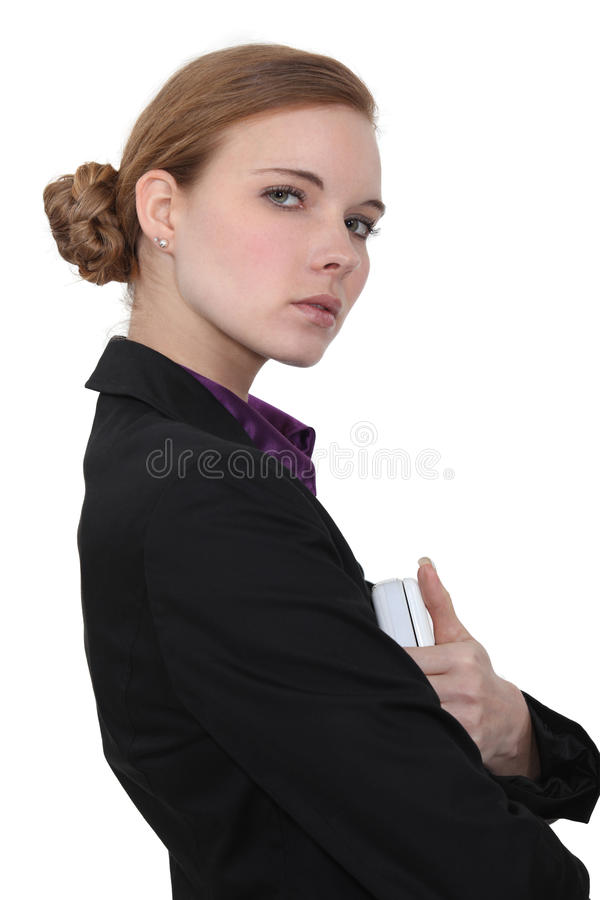 Download Austere businesswoman stock image. Image of background - 28642783