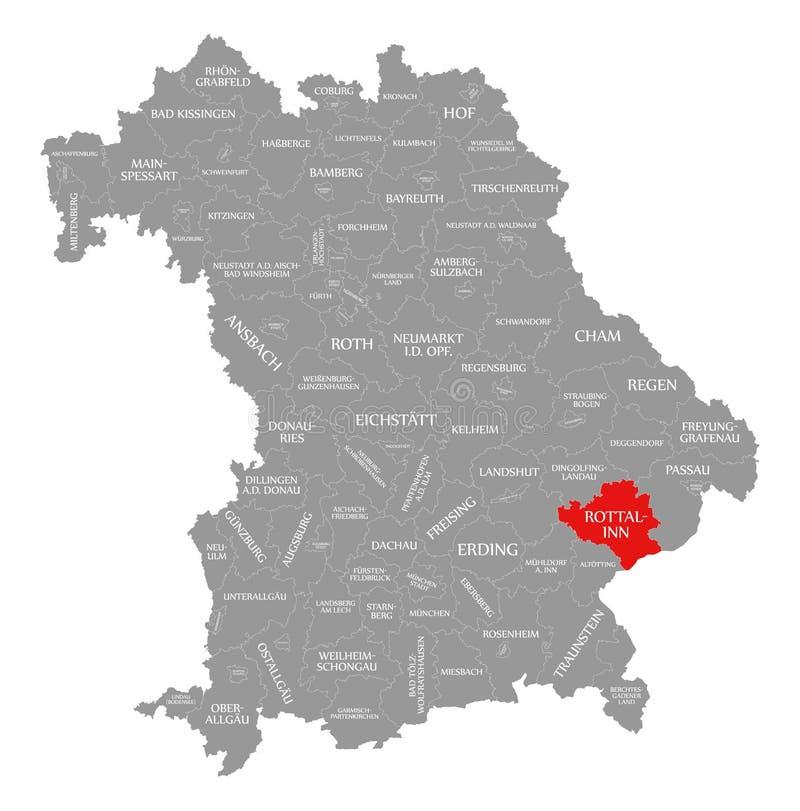 austeria okręgu administracyjnego czerwień podkreślająca w mapie Bavaria Niemcy ilustracji