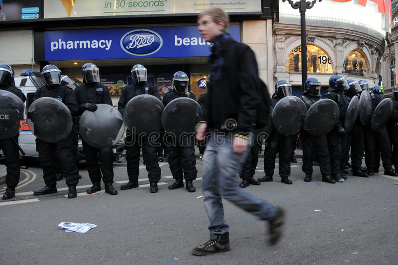 Austerity Protest In London Editorial Stock Image