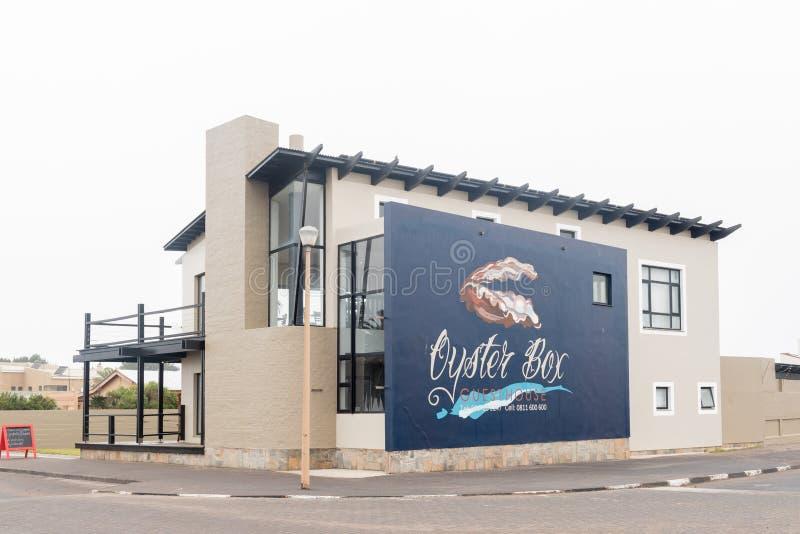 Austern-Kasten, ein Gästehaus und Restaurant in der Walfischbucht stockbilder