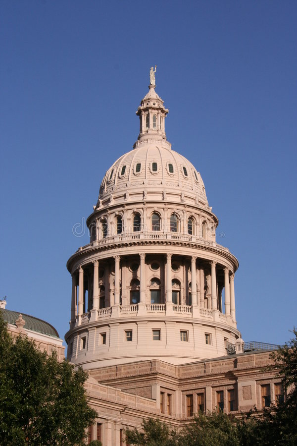 austin budynku w centrum stolicy stanu Teksas zdjęcie royalty free