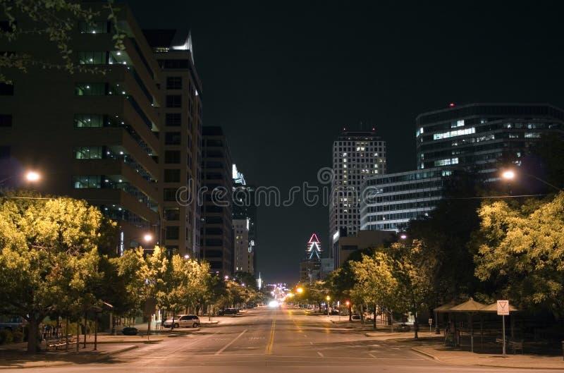 Austin céntrica, Tejas en la noche imagen de archivo libre de regalías