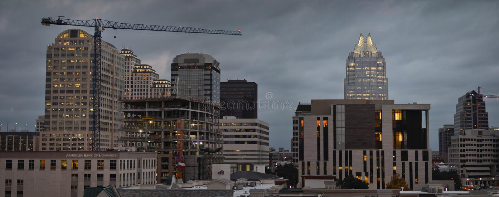 Austin by cloudy night royalty free stock photo