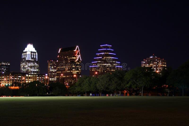 Austin del centro, il Texas alla notte immagini stock