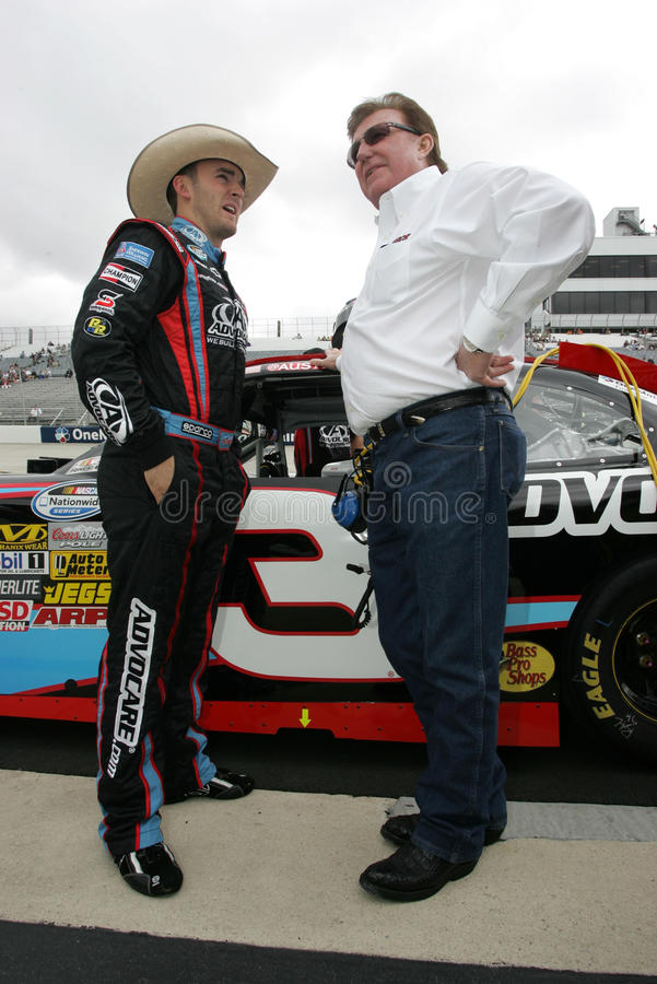 Austin Dillon et Richard Childress photographie stock libre de droits
