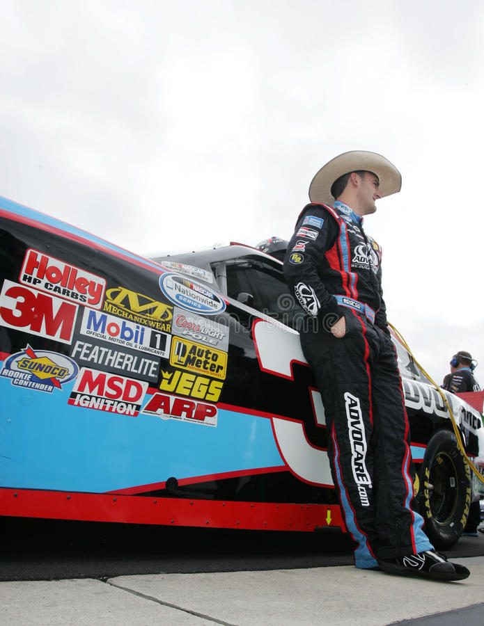 Austin Dillon sur la route de mine images libres de droits