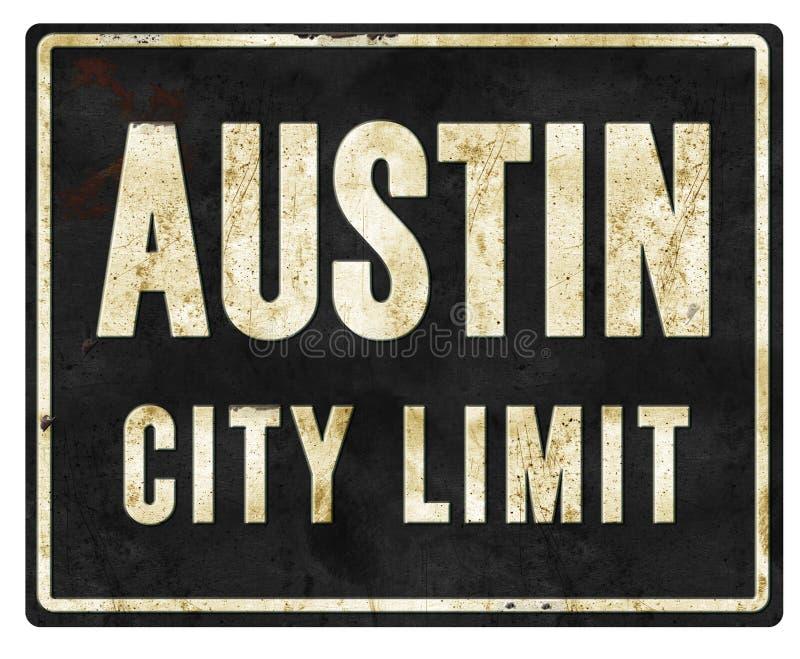 Austin granicy miasta znaka metal royalty ilustracja