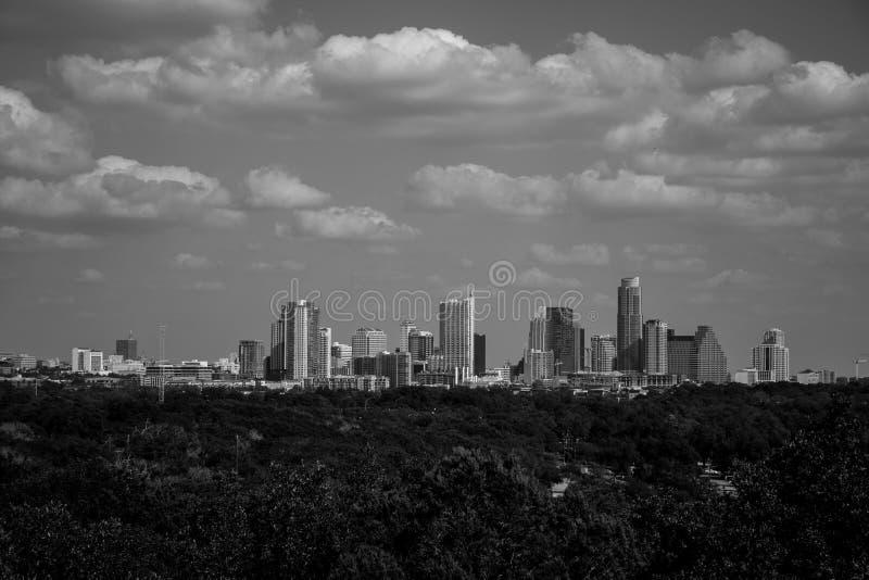 Austin Greenbelt Black tranquille et horizon blanc photo stock