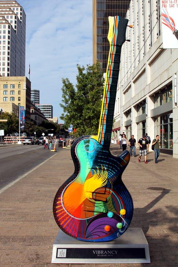 Austin, guitarra fotografía de archivo libre de regalías