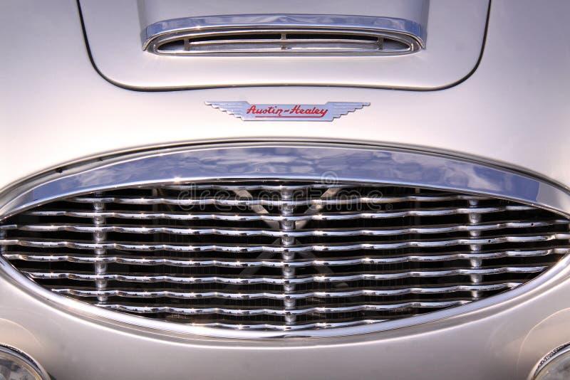 Austin-healey Oldtimer-Autogrill stockfoto