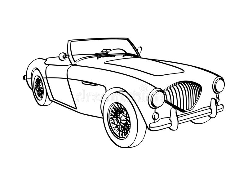 Download Austin Healy 3000 stock illustration. Image of classic - 10863990