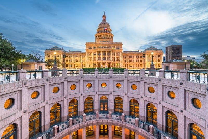 Austin, het Capitool van Texas, de Staat van de V.S. stock foto's