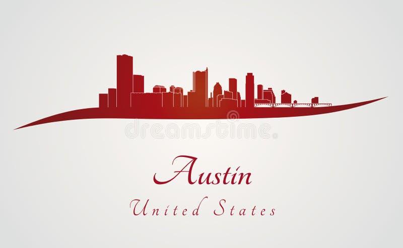 Austin-horizon in rood vector illustratie