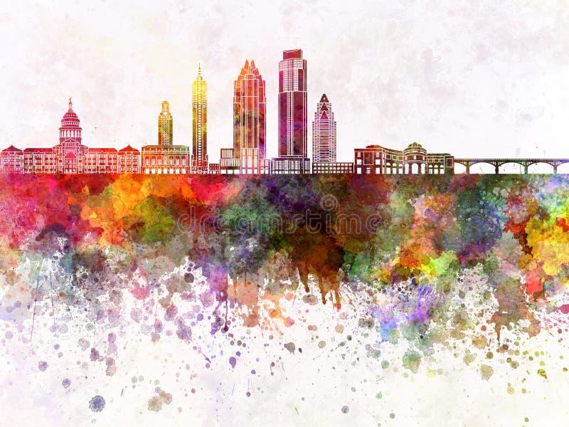 Austin-horizon in wb royalty-vrije illustratie