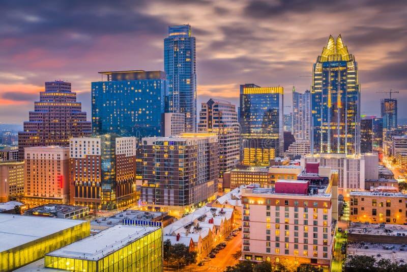 Austin, il Texas, paesaggio urbano di U.S.A. fotografia stock