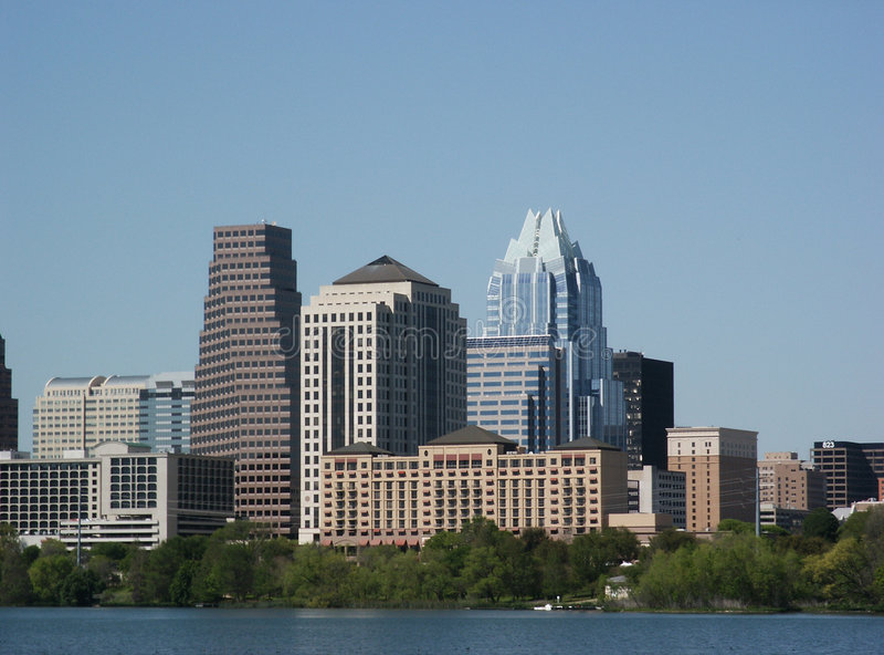 Austin, le Texas : Du centre images stock
